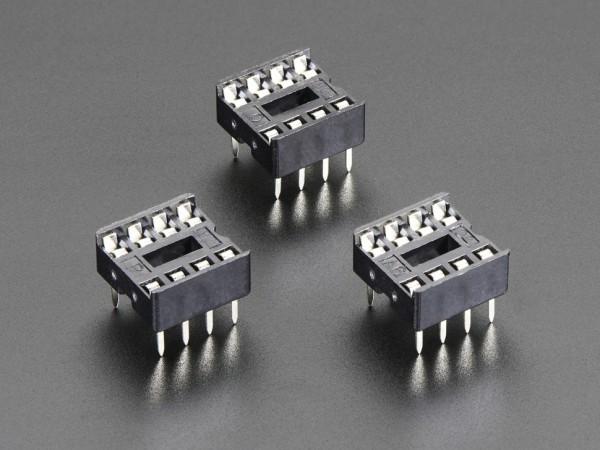 """IC Sockel für 8-polige 0,3"""" Chips (3 Stück)"""