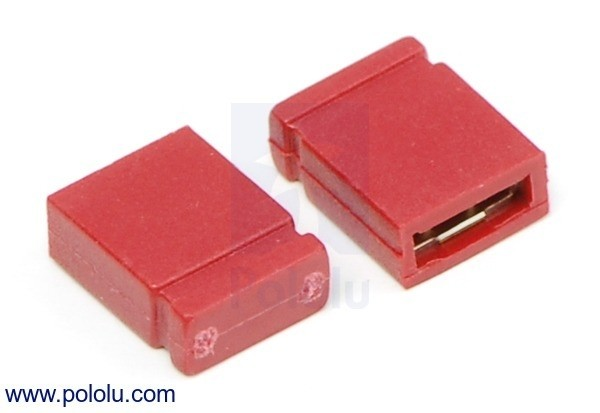 "0.100"" (2.54 mm) Shorting Block: Red, Top Closed (x5)"