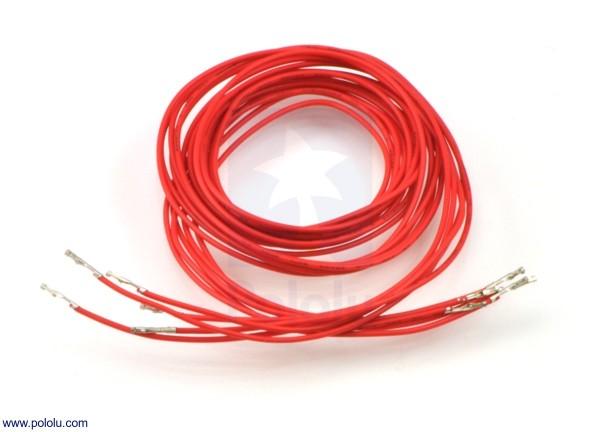 Wires w/ Pre-Crimped Terminals F-F 90cm Red x5