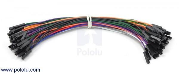 """Premium Jumper Wire 50-Piece Rainbow Assortment F-F 6"""""""