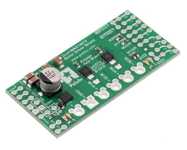Pololu Dual MAX14870 Motor Driver Shield for Arduino