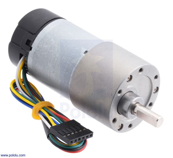 150:1 Metal Gearmotor 37Dx73L mm with Encoder