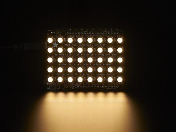 Adafruit NeoPixel Shield - 40 RGBW - Warm White - ~3000K