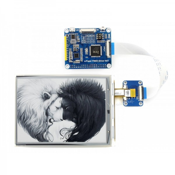 """800x600 6"""" E-Ink display HAT for Raspberry Pi"""