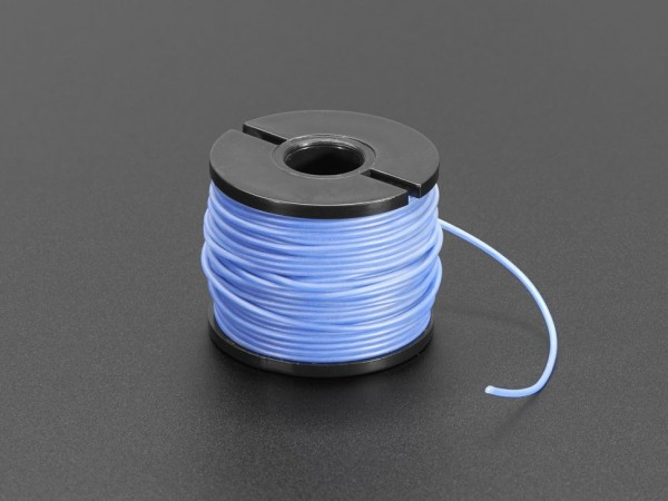 Silicone Cover Stranded-Core Wire - 15m 30AWG Blue
