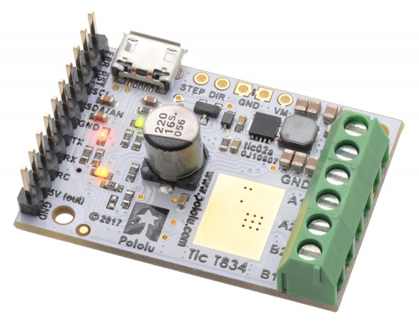 Pololu Tic T834 USB Multi-Interface Schrittmotor-Treiber (gelötete Konnektoren)
