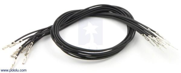Kabel mit gecrimpten M-F Terminals (30 cm, schwarz, 10 Stück)
