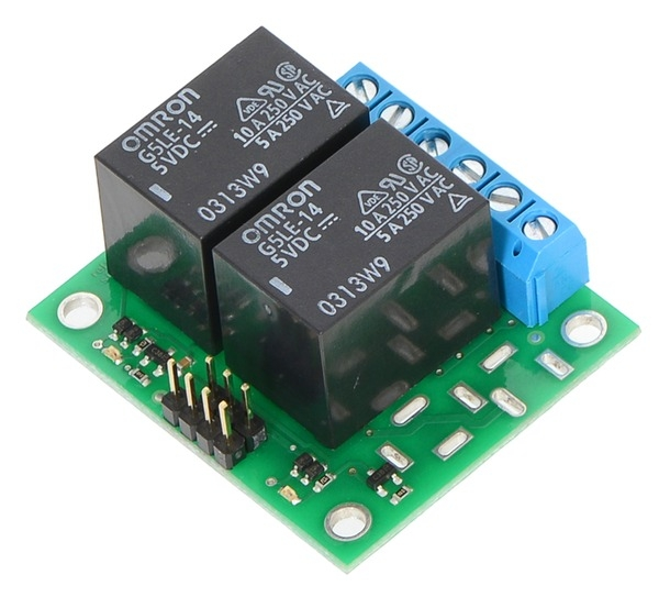 Pololu Basic 2-Channel SPDT Relay Carrier with 5VDC Relays ...