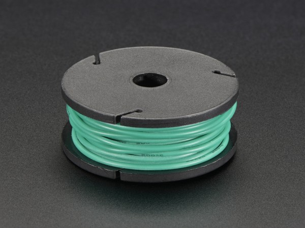 Silicone Cover Stranded-Core Wire - 25ft 7.62m 26AWG - Green