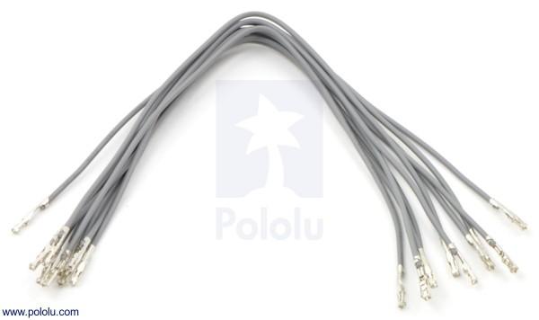 Wires w/ Pre-Crimped Terminals F-F 15cm Gray x10