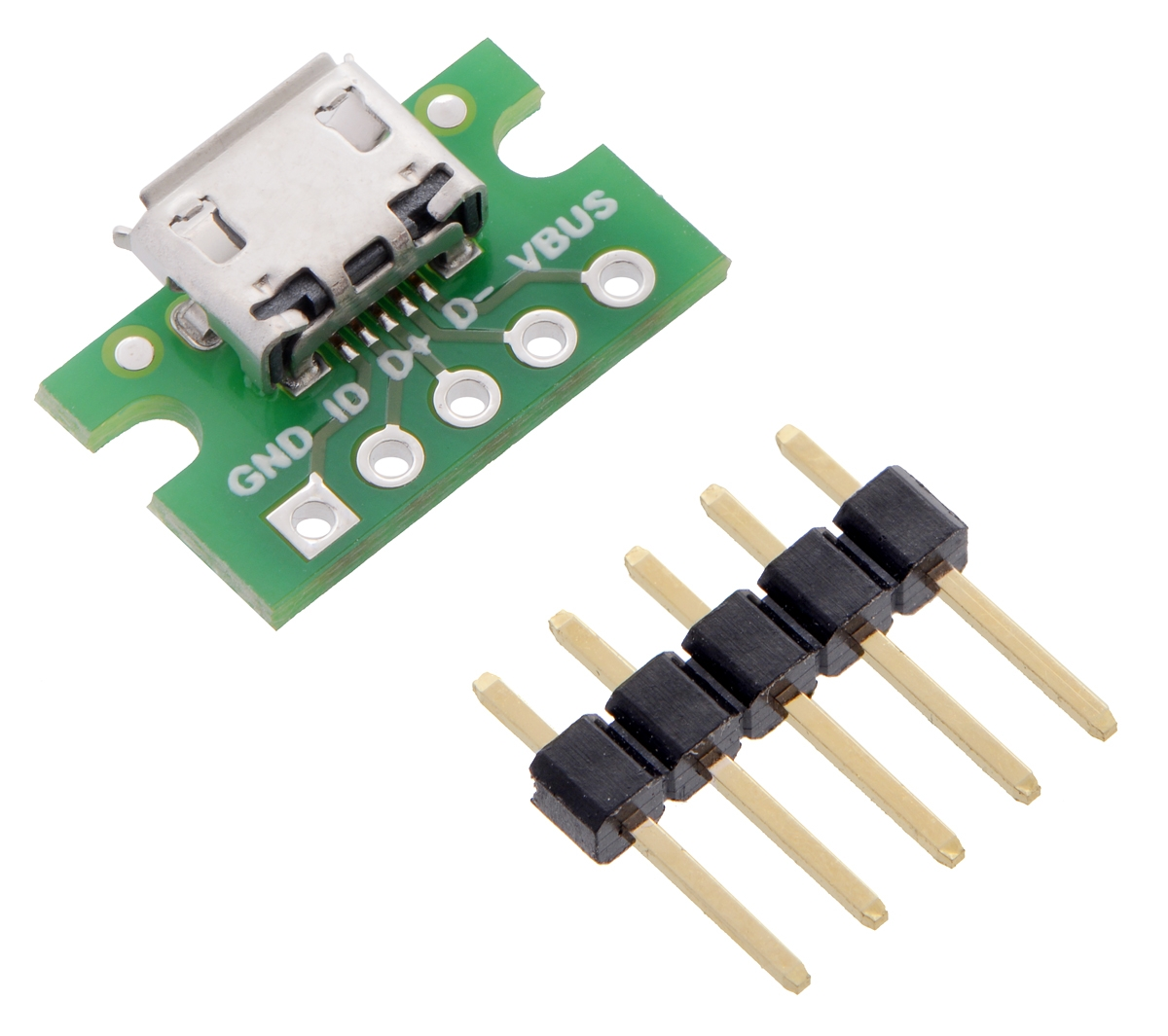Pololu USB MicroB Connector Breakout Board   Interfaces