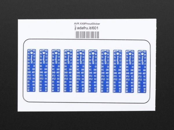 Adafruit AVR ATmegaXX8 Pinout Sticker (10 Stück)