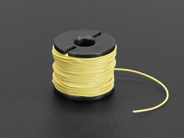 Silicone Cover Stranded-Core Wire - 15m 30AWG Yellow