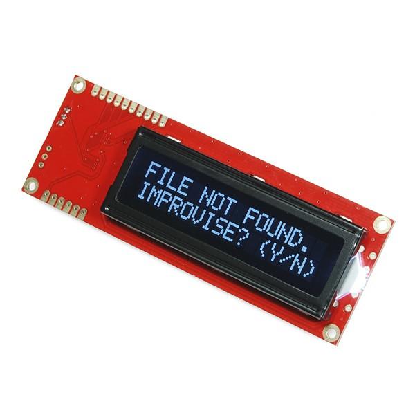 Serial Enabled 16x2 LCD (weiß auf schwarz, 5V)