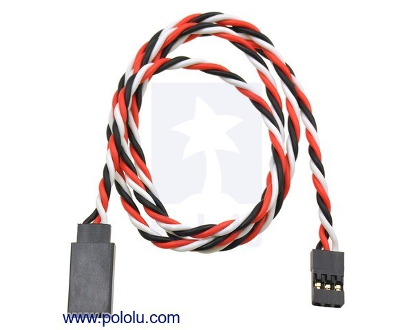 Twisted Servo Extension Cable 60cm Male - Female