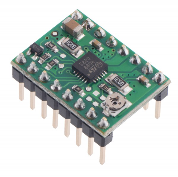 STSPIN820 Stepper Motor Driver Carrier (Header Pins Soldered)