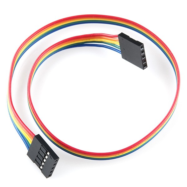 "Jumper Wire - 0.1"", 5-pin, 30cm"
