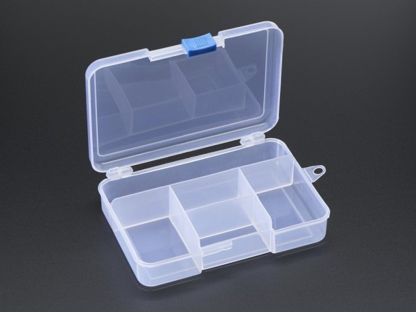 Latching 5-Compartment Storage Box