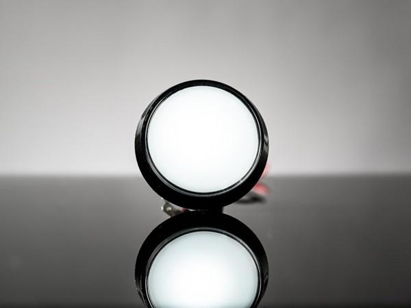 Großer Arcade-Button mit LED - 60 mm (weiß)