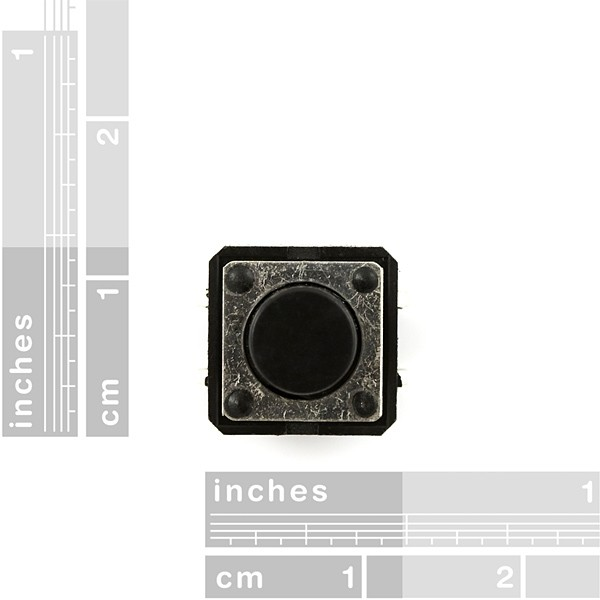 Momentary Pushbutton Switch - 12mm Square COM-09190