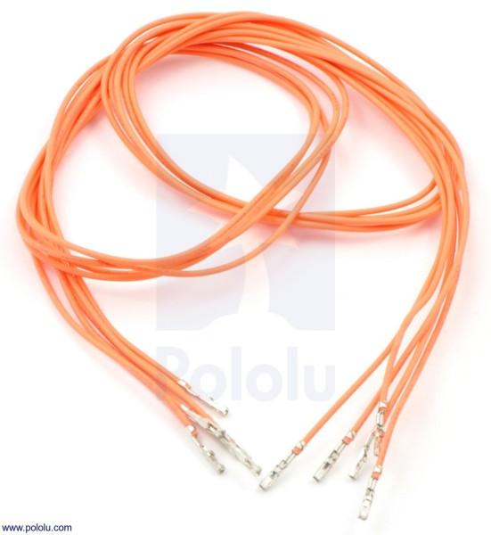 Wires w/ Pre-Crimped Terminals F-F 60cm Orange x5