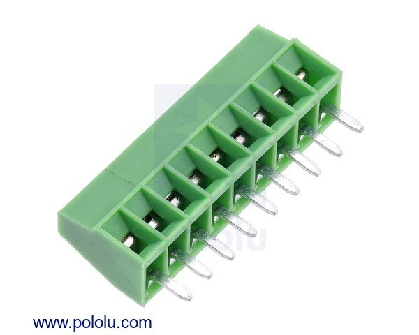 Screw Terminal Block: 9-Pin, 2.54mm Pitch, Side Entry