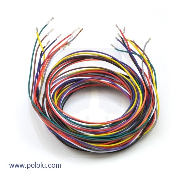 "Wires with Pre-crimped Terminals 10-Piece Rainbow Assortment F-F 60"" (150 cm)"