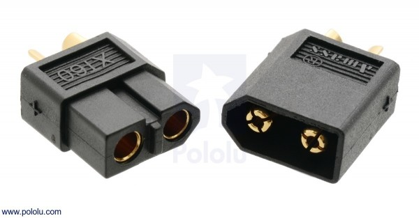 XT60 Connector Male-Female Pair, Black