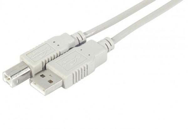 USB Kabel 2.0 A-Stecker auf B-Stecker 1.8m