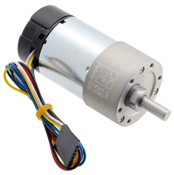 30:1 Metal Gearmotor 37Dx68L mm 24V with 64 CPR Encoder (Helical Pinion)