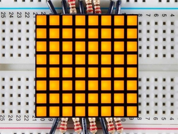 "Adafruit 1.2"" 8x8 Matrix Square Pixel - Yellow"