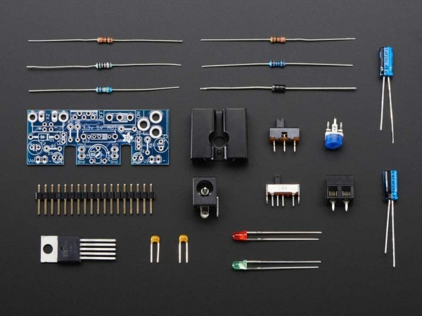 Adafruit Adjustable breadboard power supply kit - v1.0