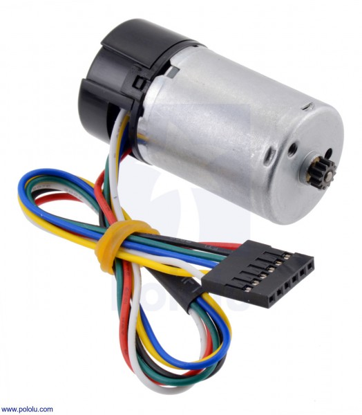 HP 12V Motor with 48 CPR Encoder for 25D mm Metal Gearmotors (No Gearbox)