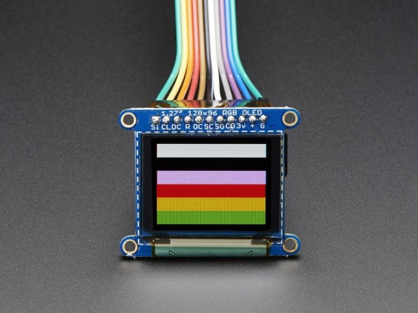 "Adafruit OLED Breakout Board - 16-bit Color 1.27"" w/microSD holder"