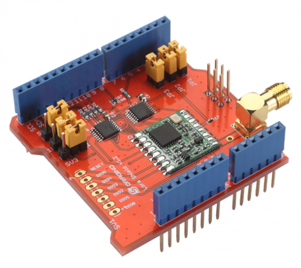 Dragino Lora Shield v98: Load with RFM98W-433S2, support 433M frenquency