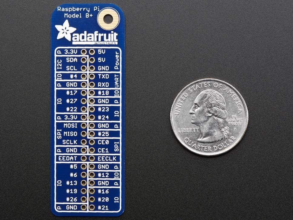Adafruit GPIO Reference Card for Raspberry Pi Model B+