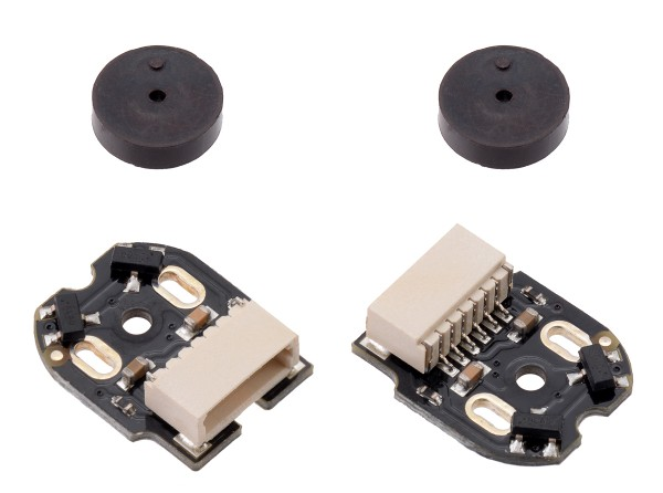 Magnetic Encoder Pair Kit with Side-Entry Connector for Micro Metal Gearmotors, 12 CPR, 2.7-18V