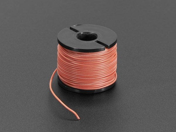 Silicone Cover Stranded-Core Wire - 15m 30AWG Red