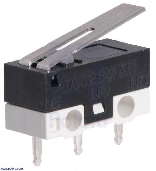 Mini-Schnappschalter mit 13,5-mm-Hebel (3-Pin, SPDT, 1A)
