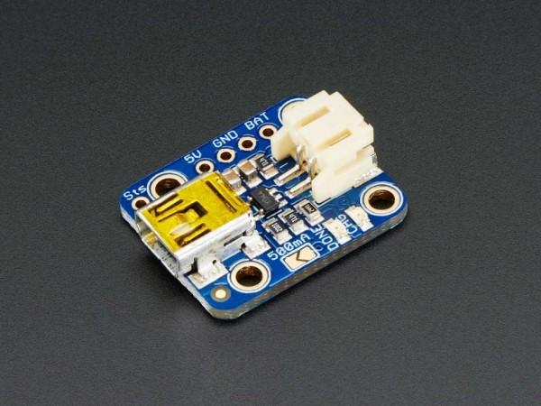 Adafruit Mini Lipo w/Mini-B USB Jack - USB LiIon/LiPoly charger