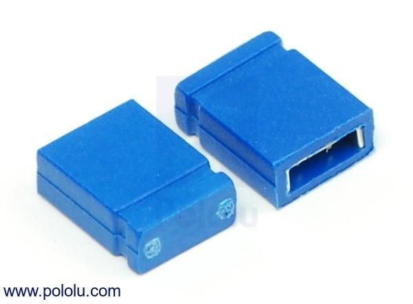 """0.100"""" (2.54 mm) Shorting Block: Blue, Top Closed (x5)"""