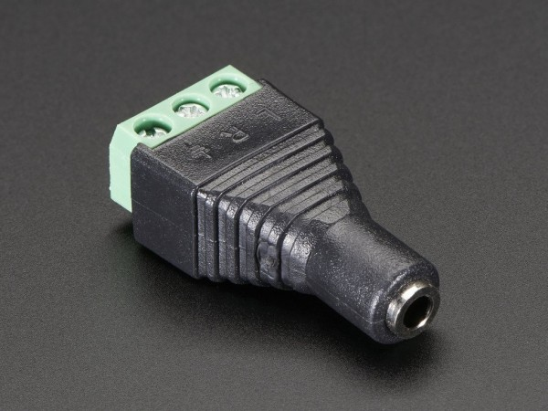 "3.5mm (1/8"") Stereo Audio Jack Terminal Block"