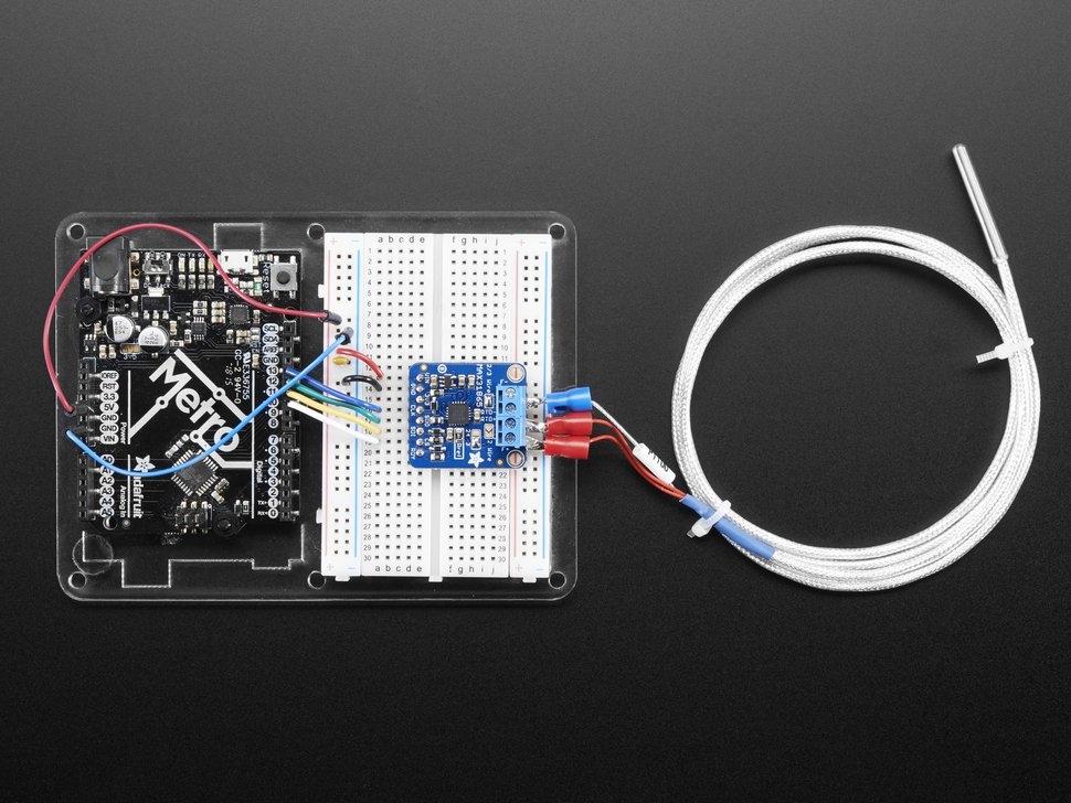 Adafruit PT100 RTD Temperature Sensor Amplifier - MAX31865 ...
