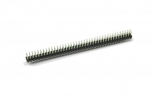 2x40 Pin Break Away Headers - Straight (Schwarz)