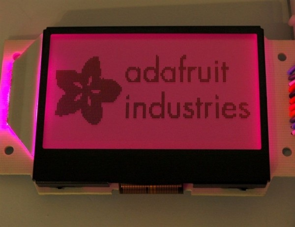 Adafruit Graphic ST7565 Positive LCD (128x64) mit RGB backlight + extras - ST7565
