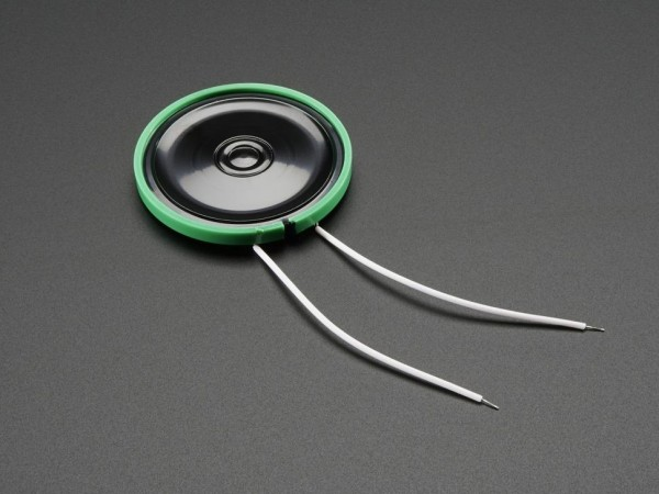 Thin Plastic Speaker w/Wires - 8 ohm 0.25W