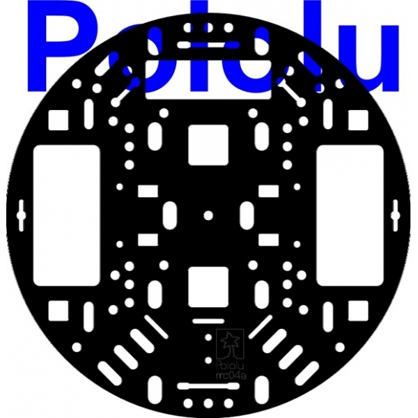 "Pololu 5"" Robot Chassis RRC04A Solid Black"