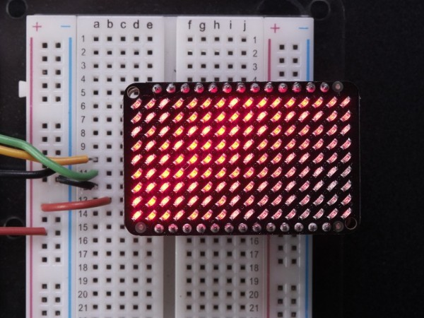 Adafruit LED Charlieplexed Matrix - 9x16 LEDs - Red