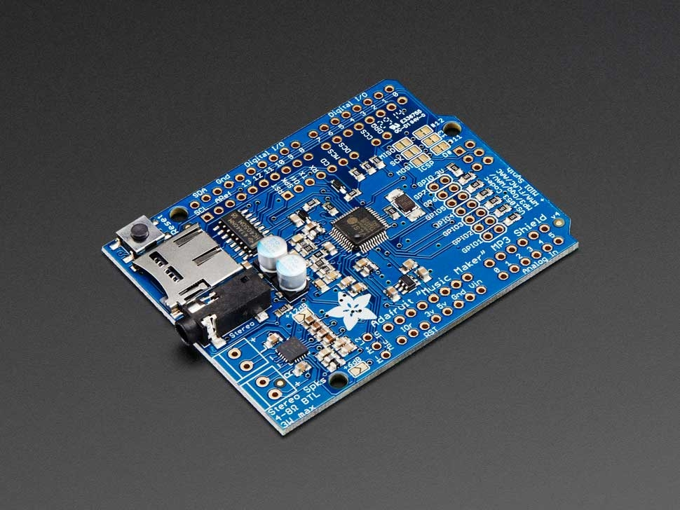 Adafruit quot music maker mp shield for arduino w stereo