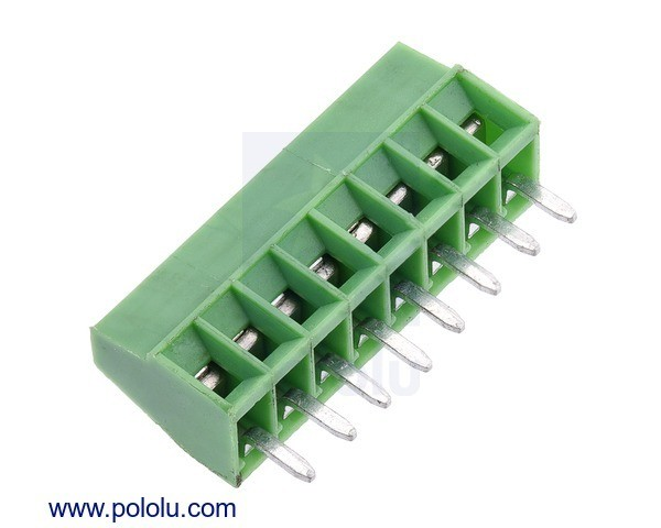 Screw Terminal Block: 8-Pin, 2.54mm Pitch, Side Entry